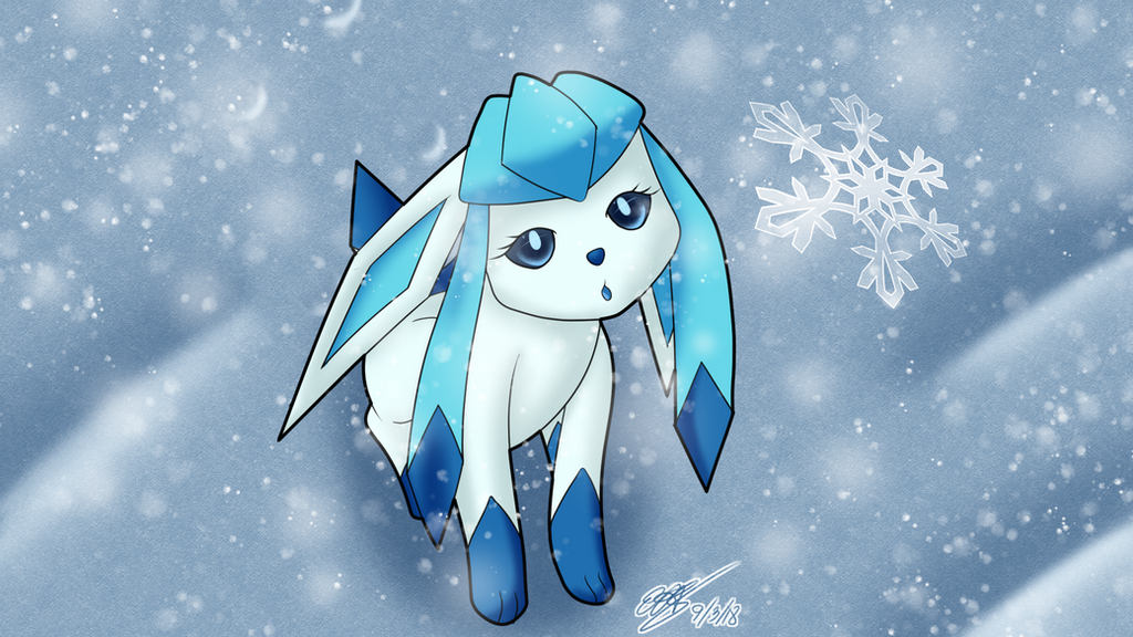 Glaceon - Snowy Day by extreme-sonic
