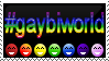 GayBiWorld stamp by OpalMist
