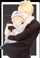 | COMMISH | Couple Hug~ +[SPEEDPAINT] by EdhelSen