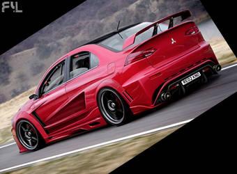 Mitsubishi Lancer Evolution X by ryl-tm