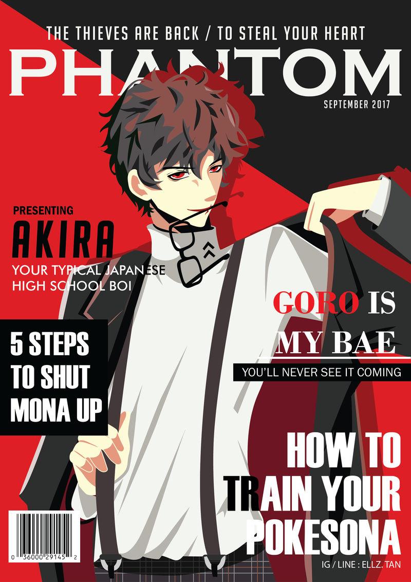 Persona 5 Akira On Magazine Cover By Ellztan On Deviantart