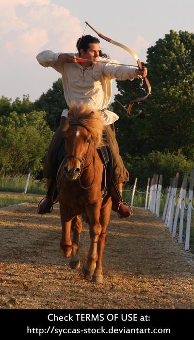 Horseback Archer 6 by syccas-stock