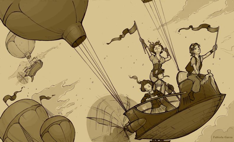 Long Live Steampunk by fabiolagarza