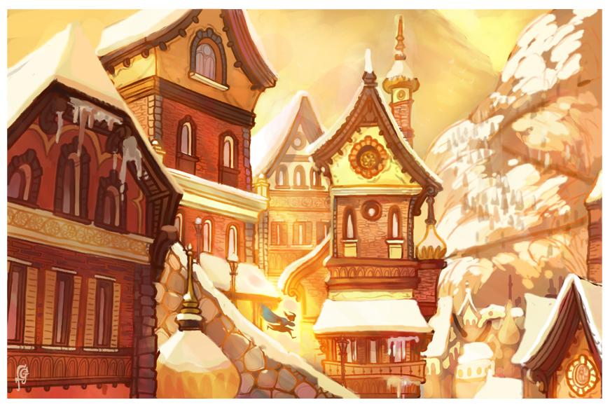 Lucia's Village by fabiolagarza