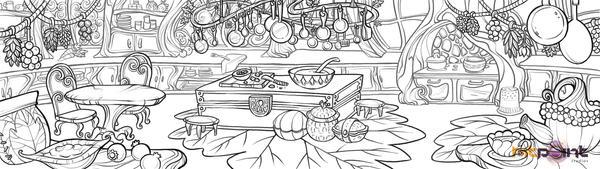 Tinkerbell: Kitchen by fabiolagarza