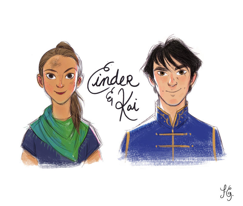 Cinder and Kai by fabiolagarza