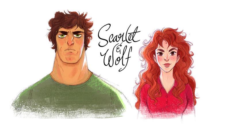 Scarlet and Wolf by fabiolagarza