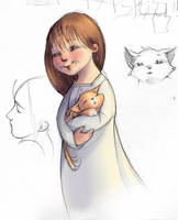 Katie with her Kitten by fabiolagarza