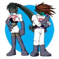 Dark Twins cosplay Team Rocket