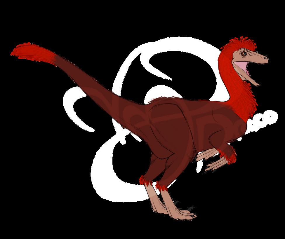 Pod the Pyroraptor by dinosapien