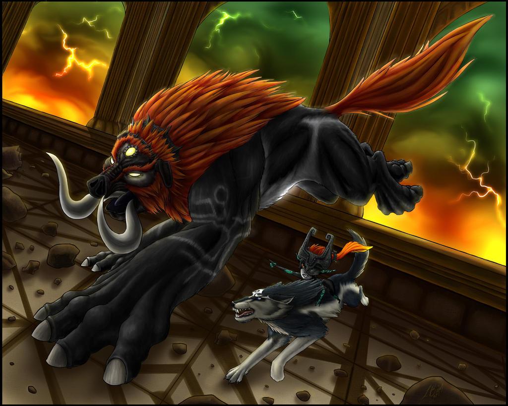 Battle of Beasts - Zelda TP by Lizard-of-Odd
