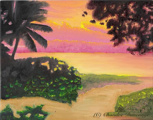 Ocean Sunset by FireWolfWitch