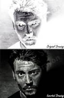 Johnny Depp (Negative/Inverted Drawing) by Lavender-Crayon