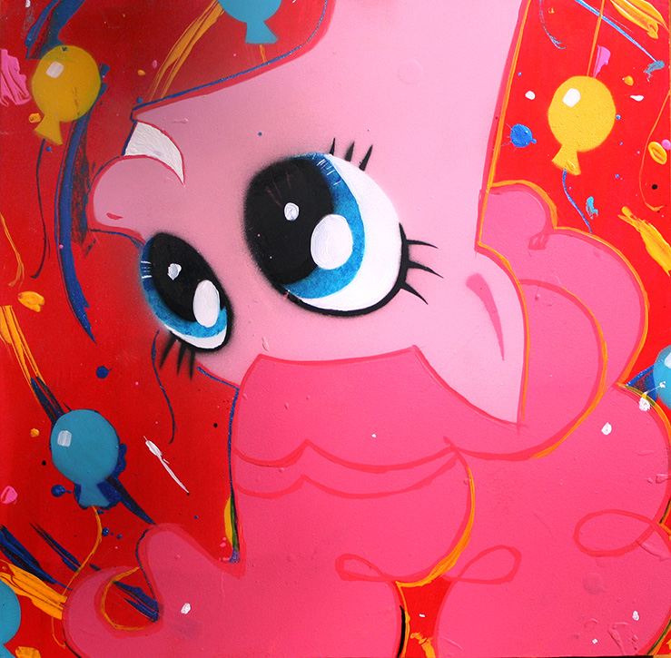 Pinkie Pie (FiM acrylic series) by bagshotrow