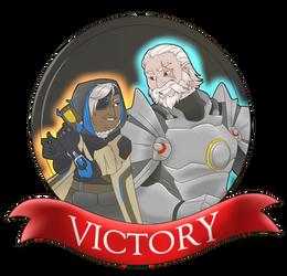 Grandma Versus Grandpa Victory Medal