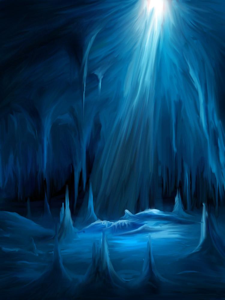 Speedpaint - Ice Cave by pan-pks
