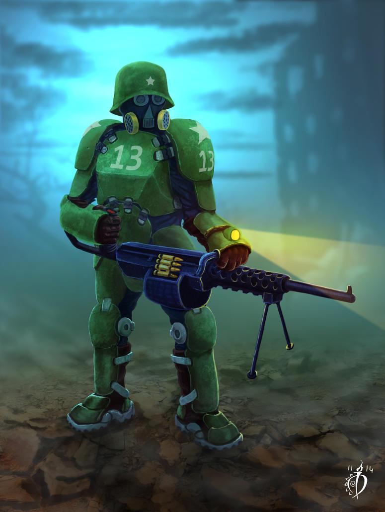 Infantryman concept by deArcane