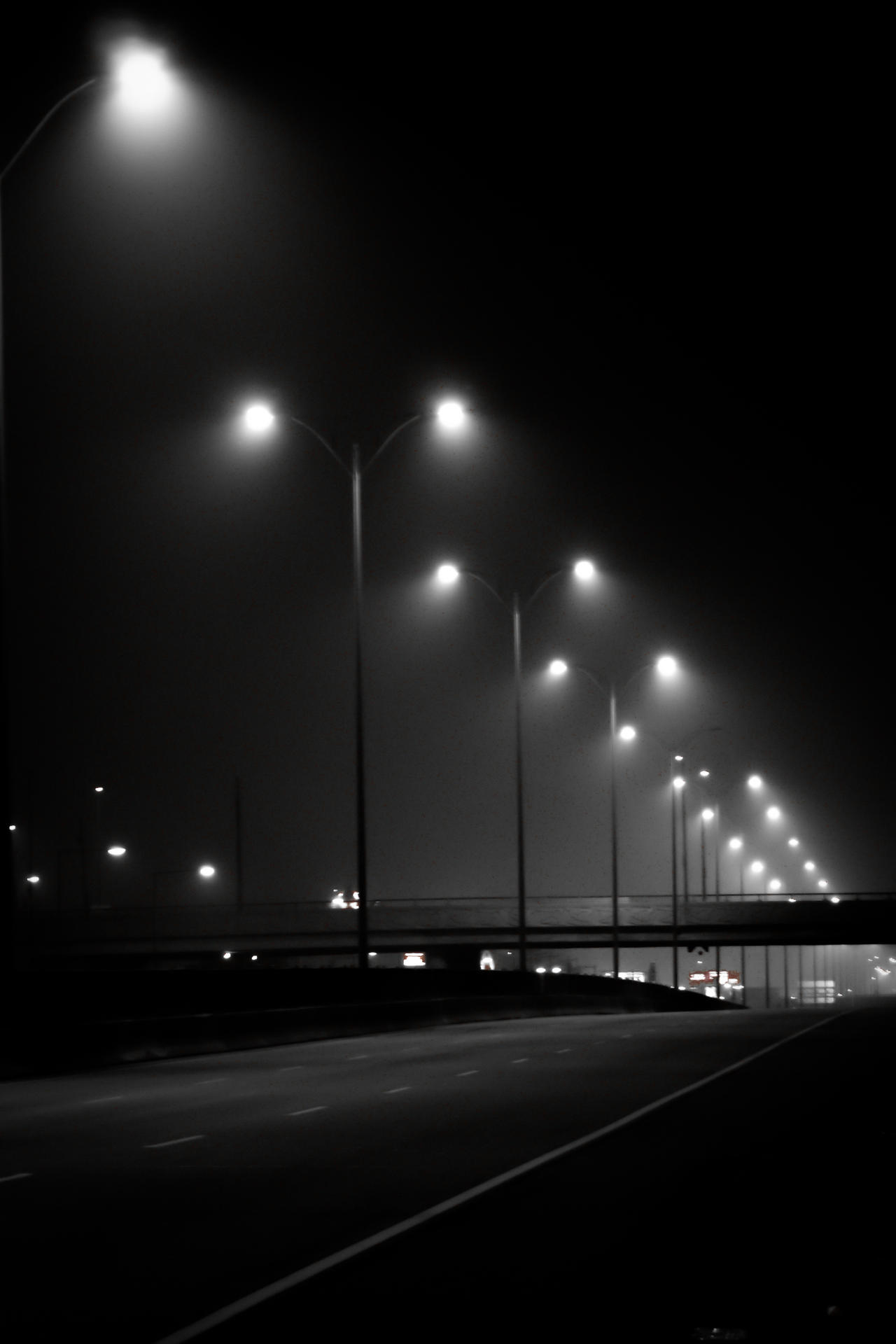 Fogged Highway by K-liss