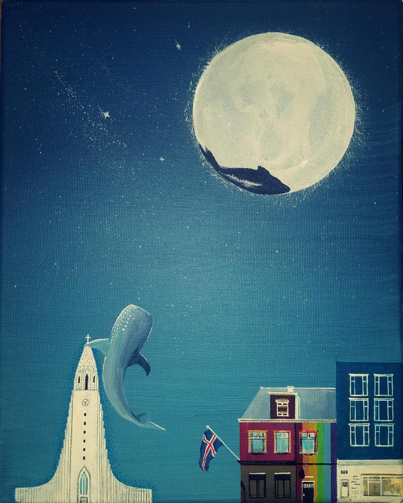 Whales Die on the Moon by Asmartiba