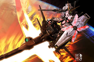Unicorn Gundam - Delta Plus by sandrum