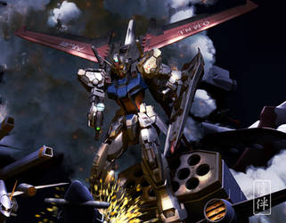 Aile Strike Gundam vs BuCue by sandrum