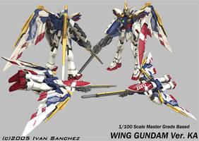 Wing Gundam ver KA by sandrum