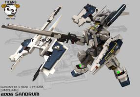 Gundam HAZEL-RAH +HRUDUDU by sandrum