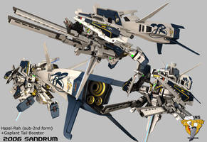 Gundam HAZEL-RAH 2nd Form by sandrum