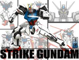 Strike Gundam: Armor Schneider by sandrum