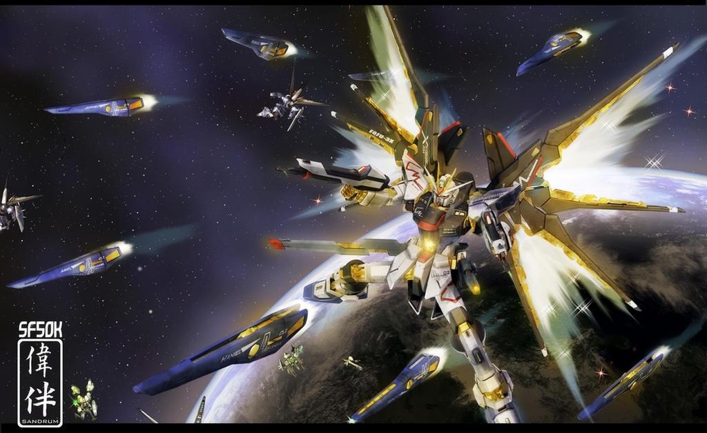 Strike Freedom: Full Burst 50K by sandrum on DeviantArt