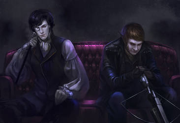 Vampire Sherlock_ Werewolf John by godforget