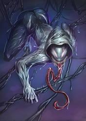 Venom Spider Gwen by dotlineshape
