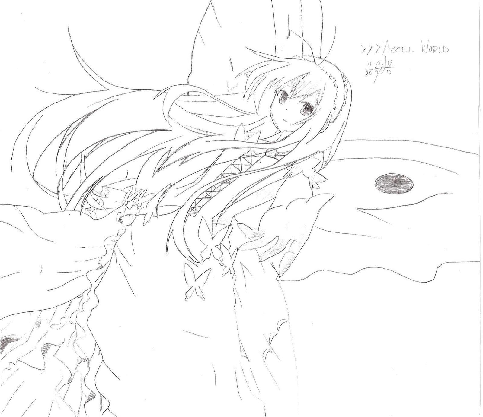 Kuroyukihime Butterfly Drawing World Kuroyukihime Sketch