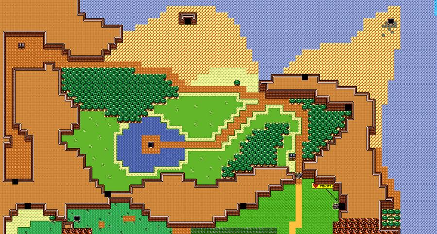 Zelda II World Map Remake WIP by ThornBlackstar on DeviantArt