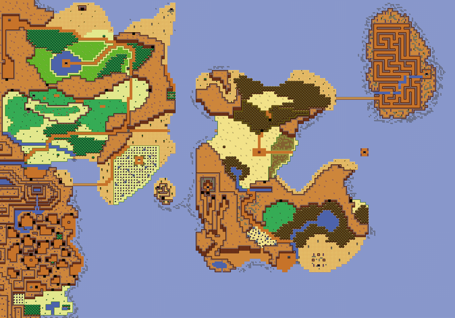 Zelda 2 Map Fabrosworld