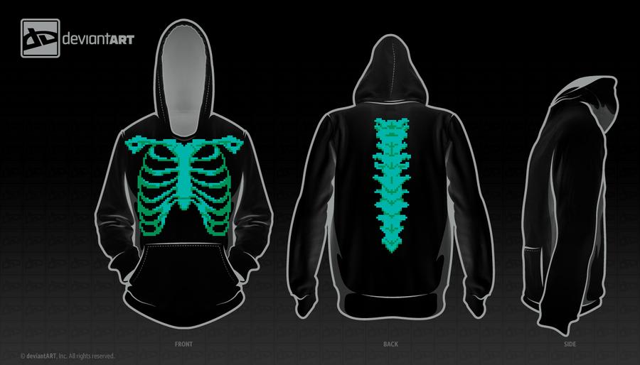 8Bit X-ray Hood by ThornBlackstar