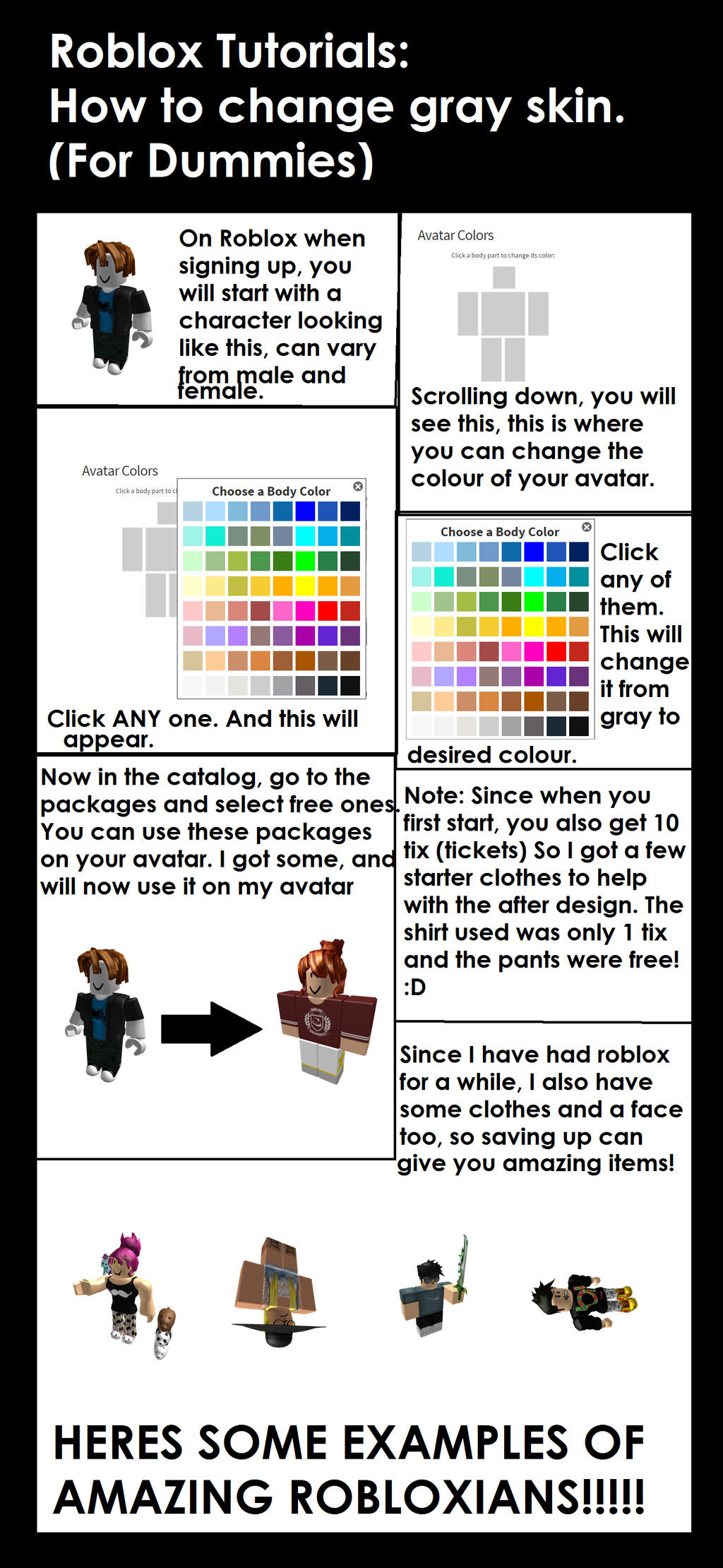 Roblox Tutorial: Changing skin  by Neon-Nightwing on DeviantArt