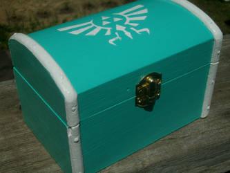 LoZ Royal-Hylian Crest Wooden Box by ZombieBunnySlaya