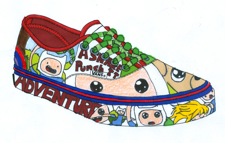 Sneaker Design-Adventure Time by Fell-Dog3