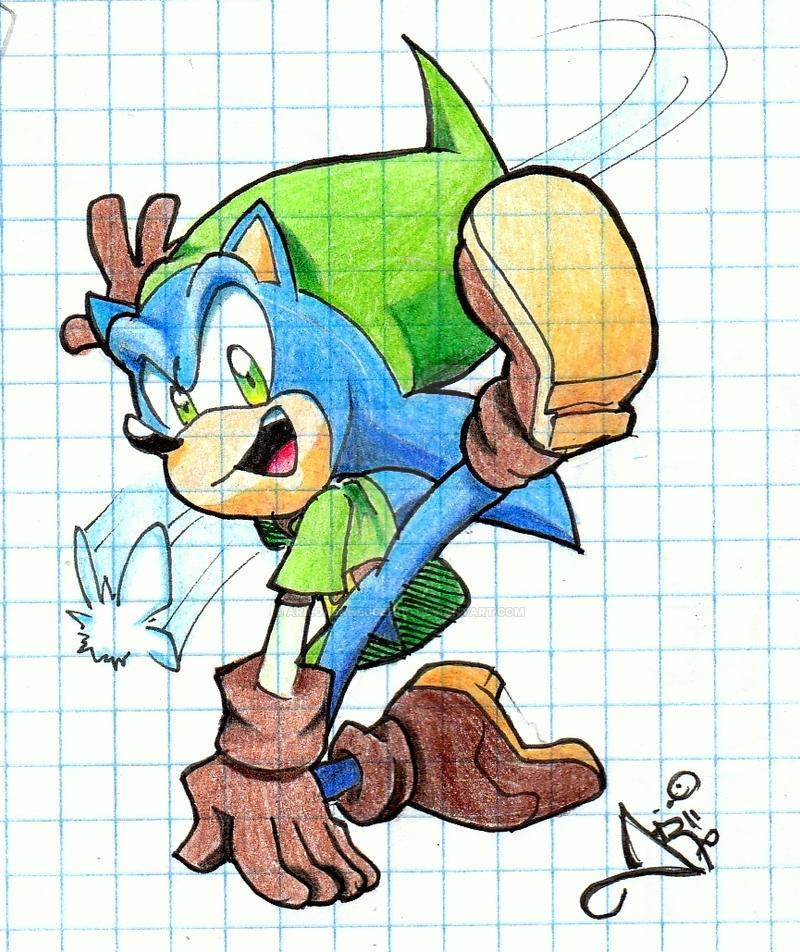 Link Sonic XD by AriLorenHedgehog