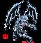 Blue-Eyes White Dragon(White Lightning) by lionheart214