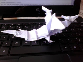 Origami  Firey Dragon says Rawr! by lionheart214