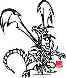 Tribal Red-Eyes B. Dragon by lionheart214