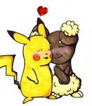 Art Trade: PikachuXBuneary