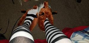 Toe socks and fox slippers!