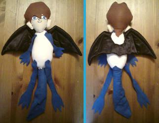 BlueEyes Mullet Dragon plushie by indecisivepancake