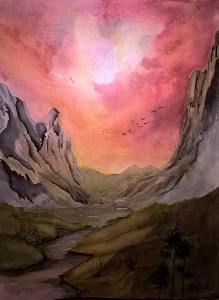 Sunset glory by Cisowa