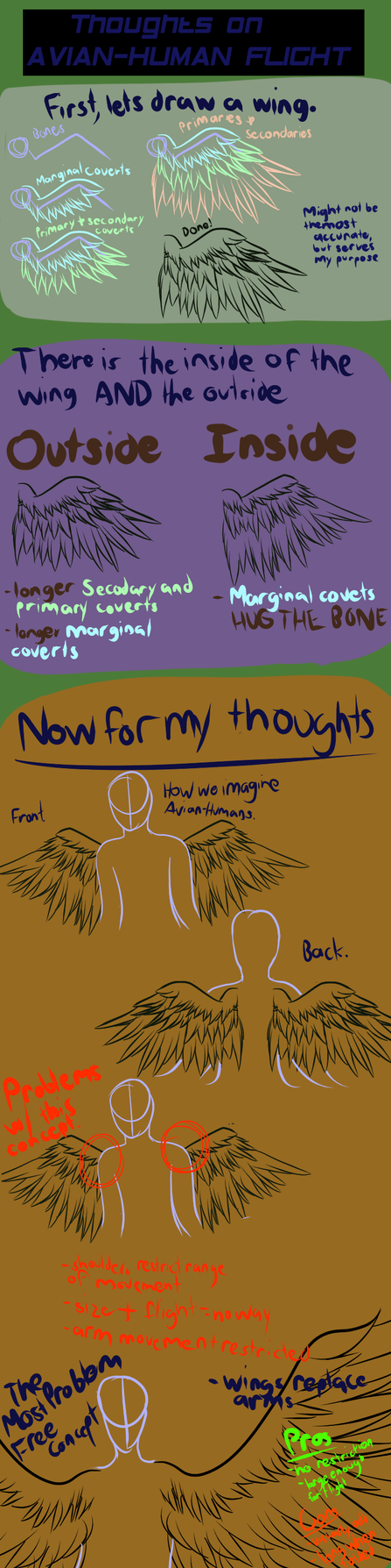 Thoughts on Avian-Human Flight by Derpshire