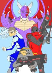 mis personajes de mi comic