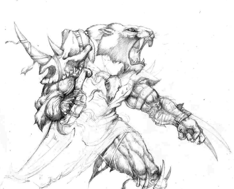 Rengar, skin idea boceto by chaban on deviantART
